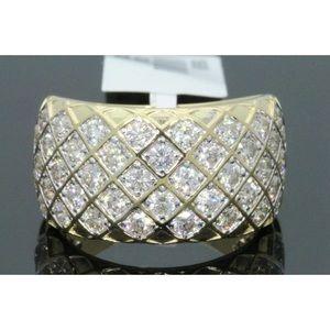 Nice men's 2.60 carat 10k yellow gold diamond ring